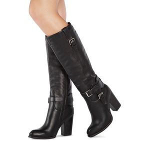 JUSTFAB Sayana faux leather black boot NWOT size 8